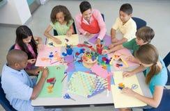 Lección del arte de la escuela primaria Fotografía de archivo