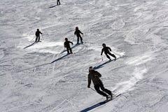 Lección del esquí Foto de archivo