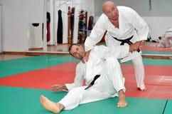 Lección del retroceso del karate imágenes de archivo libres de regalías