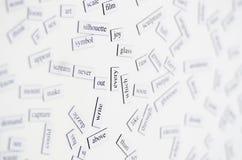 Lección inglesa Imágenes de archivo libres de regalías