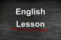 Lección inglesa Fotos de archivo libres de regalías