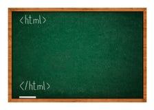 Lección una del HTML foto de archivo