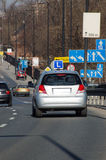 Lecciones de la conducción de automóviles Fotos de archivo libres de regalías