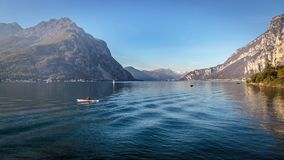 LECCO, ITALY/EUROPE - OCTOBER 29 : Kayaking on Lake Como at Lecco on the Southern Shore of Lake Como in Italy on October. 29, 2010. One unidentified person stock images