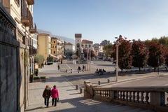 LECCO, ITALY/EUROPE - 29 OKTOBER: Mening van het Belangrijkste Vierkant in L stock afbeelding