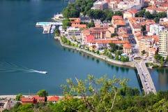 Lecco, jeziorny Como, Włochy Obrazy Stock