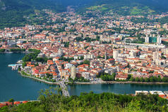 Lecco, lake Como, Italy Stock Images