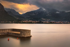 Lecco town, Como Lake district landscape. Italy, Europe. Stock Photography
