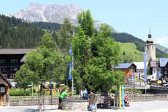 Lech is a municipality in the West-Austrian state of Vorarlberg Stock Images
