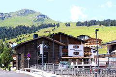 Lech in Austria is a very well-known winter sports area Royalty Free Stock Images