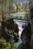 Lech Falls near Fuessen, Bavaria Royalty Free Stock Photo