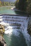 Lech Falls vicino a Fuessen, Baviera Immagini Stock