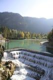 Lech Falls vicino a Fuessen, Baviera Fotografie Stock Libere da Diritti