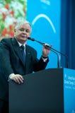 Lech Kaczynski Stockbild