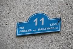 Lech kaczynski street Royalty Free Stock Photography