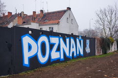 Lech Poznan drawing Royalty Free Stock Images