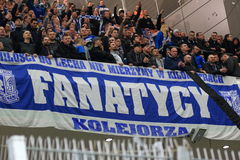Lech Poznan fans Royalty Free Stock Images