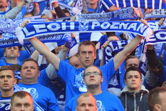 Lech Poznan fans Stock Photos