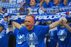 Lech Poznan fans Stock Photo