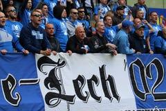 Lech Poznan fans Stock Image