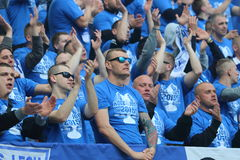 Lech Poznan fans Royalty Free Stock Photography