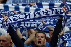Lech Poznan fans Stock Images