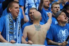 Lech Poznan fans Stock Photo