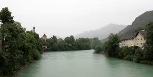 Lech river - Fussen Stock Image
