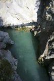 Lech River vicino a Fuessen, Baviera Immagini Stock