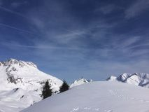 Lech Tirol Áustria de Winterwonderland Fotos de Stock Royalty Free