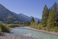 Lech Valley au Tyrol photos libres de droits