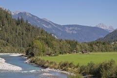 Lech Valley au Tyrol images libres de droits