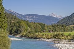 Lech Valley au Tyrol photographie stock