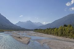 Lech Valley au Tyrol photos stock