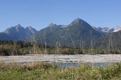 Lech Valley au Tyrol photo stock