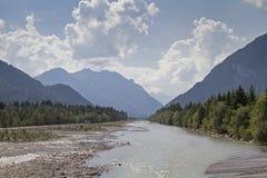 Lech Valley au Tyrol photographie stock libre de droits