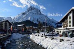 Lech, Voralberg, Oostenrijk Stock Foto