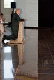 Lech Walesa, gebed. Stock Fotografie