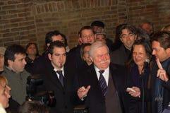Lech Walesa und Parmas Major lizenzfreies stockbild