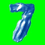 Leche del azul del número 7 Fotografía de archivo libre de regalías