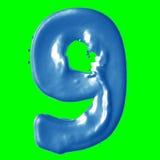 Leche del azul del número 9 Fotos de archivo