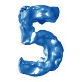 Leche del azul del número 5 Imágenes de archivo libres de regalías