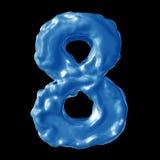 Leche del azul del número 8 Imagen de archivo libre de regalías