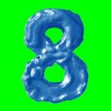 Leche del azul del número 8 Fotografía de archivo