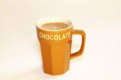 Leche del chocolate caliente Fotos de archivo libres de regalías