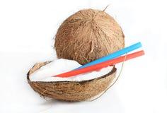 Leche del cocount del fnd del coco Foto de archivo libre de regalías