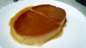 Leche flan philippines sweet dessert Stock Images