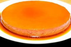Leche flan. A Sweet Cream caramel leche flan Stock Images
