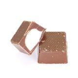 Leche y chocolate blanco imagen de archivo libre de regalías