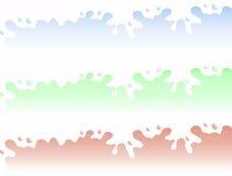 Leche y fronteras fermentadas de la leche Imagen de archivo libre de regalías